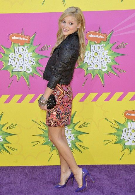 American actress Olivia Holt during Nickelodeon's Kids Choice Awards 2013...