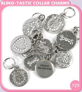 Cali needs this to go with her blingy collar so cute! Bling-Tastic Collar Charms