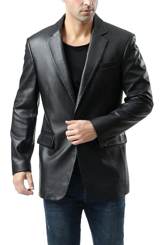 Classic Mens Leather Blazer Mens Leather Blazer Leather Blazer Leather Jacket Men