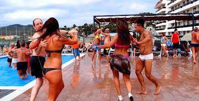 Zouk pool party in Santa Susana, Spain!