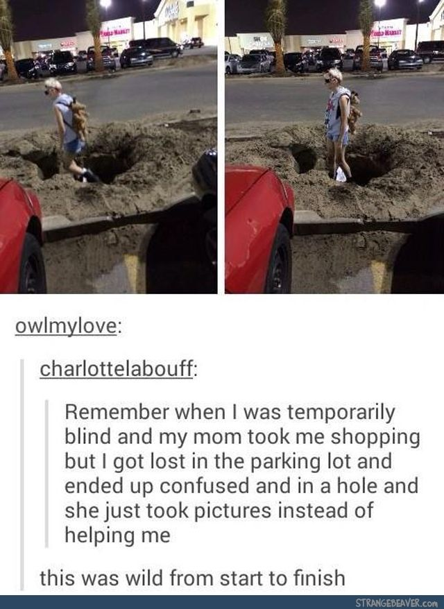 Stuck in a hole