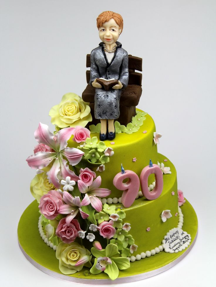 Cake Design For Grandma : 90th BIrthday Cake for Grandmother.More bespoke cakes in ...