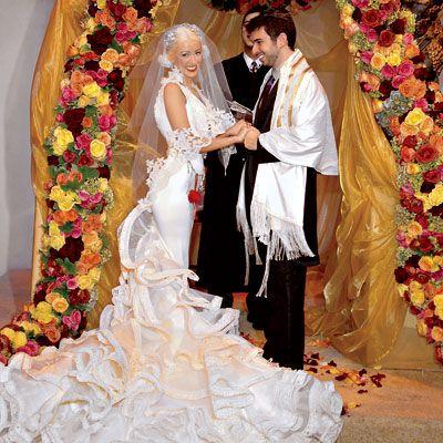 fotos bodas famosas bodas reales bodas actrices bodas originales vestidos trajes boda de cristina aguilera