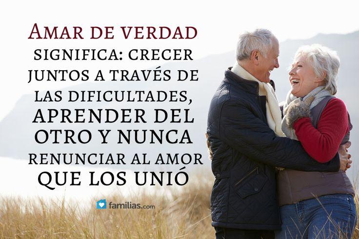 Amar de verdad es nunca olvidar el amor que los unió