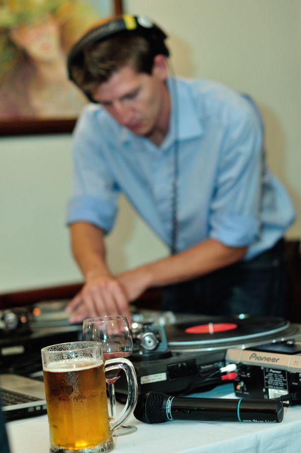 dj, disk, drink, beer