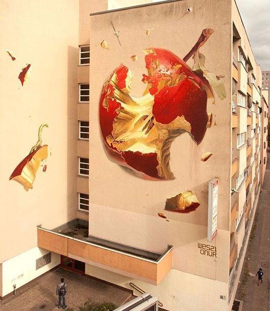 """"""" Le plus doux des péchés """" / """"The Sweetest Sin"""" / Street art. / Berlin. / Allemagne. / Germany. /  / By Wes + Onur."""