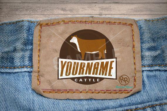 Custom Hereford Cattle Logo by RockandRowelCreative on Etsy   #showcattlelogo #hereford #cattle #livestock #logodesign #rockandrowelcreative  www.rockandrowelcreative.com