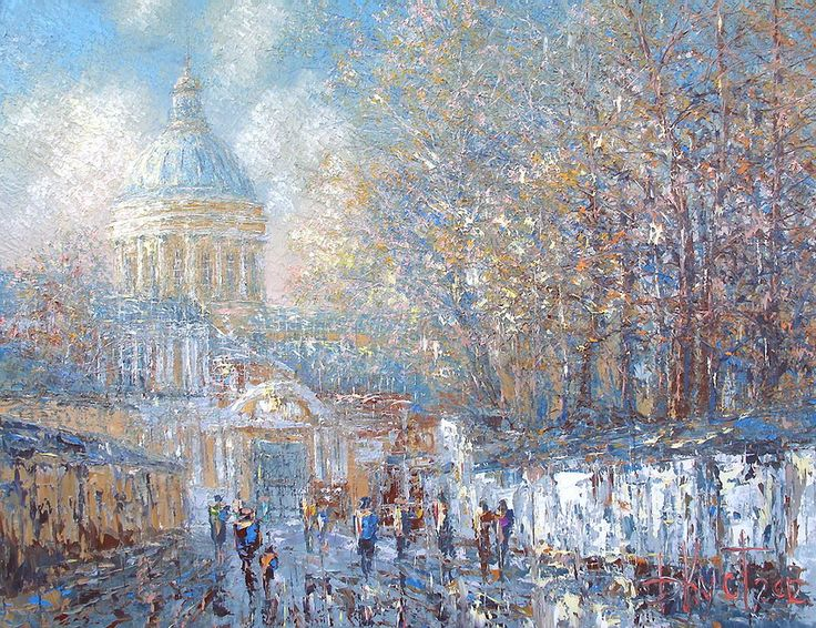 Dmitry Kustanovich \\ The Sun in October. Alexander Nevsky Lavra.