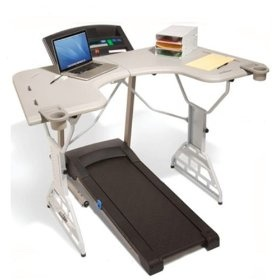 Treadmill desk! I don't know if I could multitask this well.Ideas, Fit, Offices, Trekdesk Treadmills, Things, Health, Products, Treadmills Desks, Workout