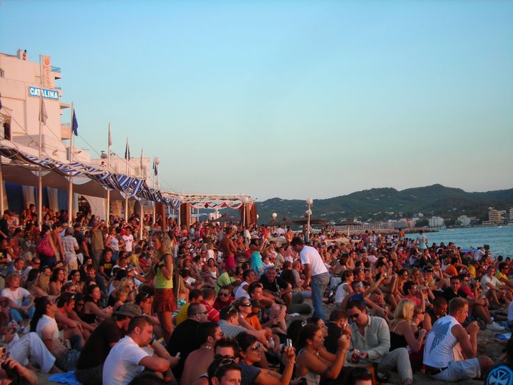 The famous sunset sessions at Cafe Del Mar, Ibiza