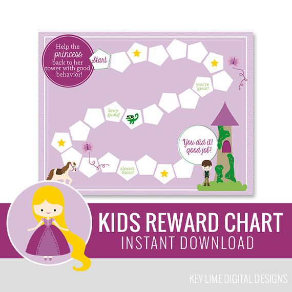 Kids Reward Chart - Princess - Instant Download Printable on Etsy, $5.00