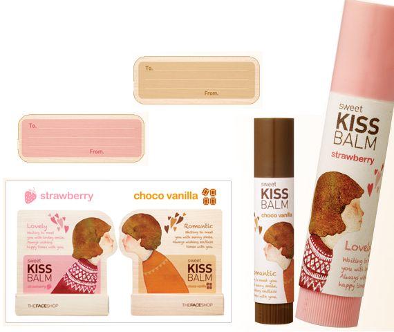 The Faceshop Sweet Kiss Balm - Choco vanilla and Strawberry