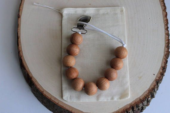 Wood Pacifier Clip, Beads Pacifier Clip, Pacifier Clips, Paci Clips, Binky Clip, Paci, Baby Gift, Baby Shower Gift  Our pacifier clips are stylish, yet functional to keep your little one's pacifier clean and close by. Made with beech wood, with a clip to attach to your childs
