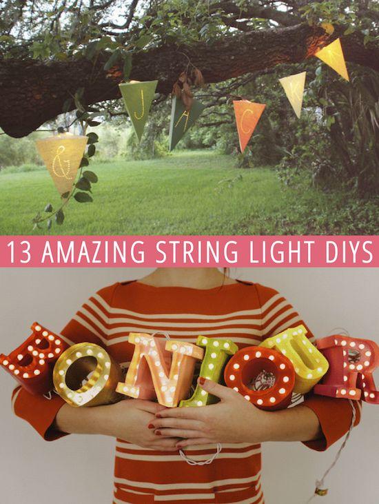 13 Amazing String Light DIYs