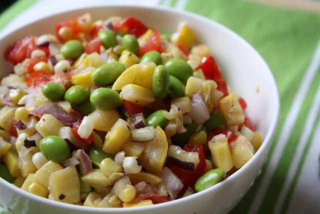 ... spicy edamame succotash salad recipes dishmaps roasted edamame salad