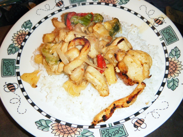 Chicken Stir Fry cooked in the T-Fal ActiFry