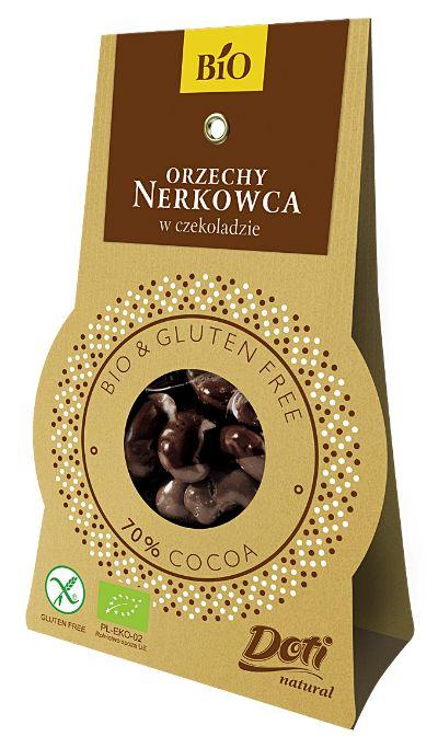 Orzechy nerkowca w czekoladzie deserowej Bio, 50 g - Doti