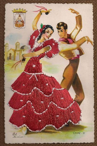 Tarjetas Postales Embroidered postcard