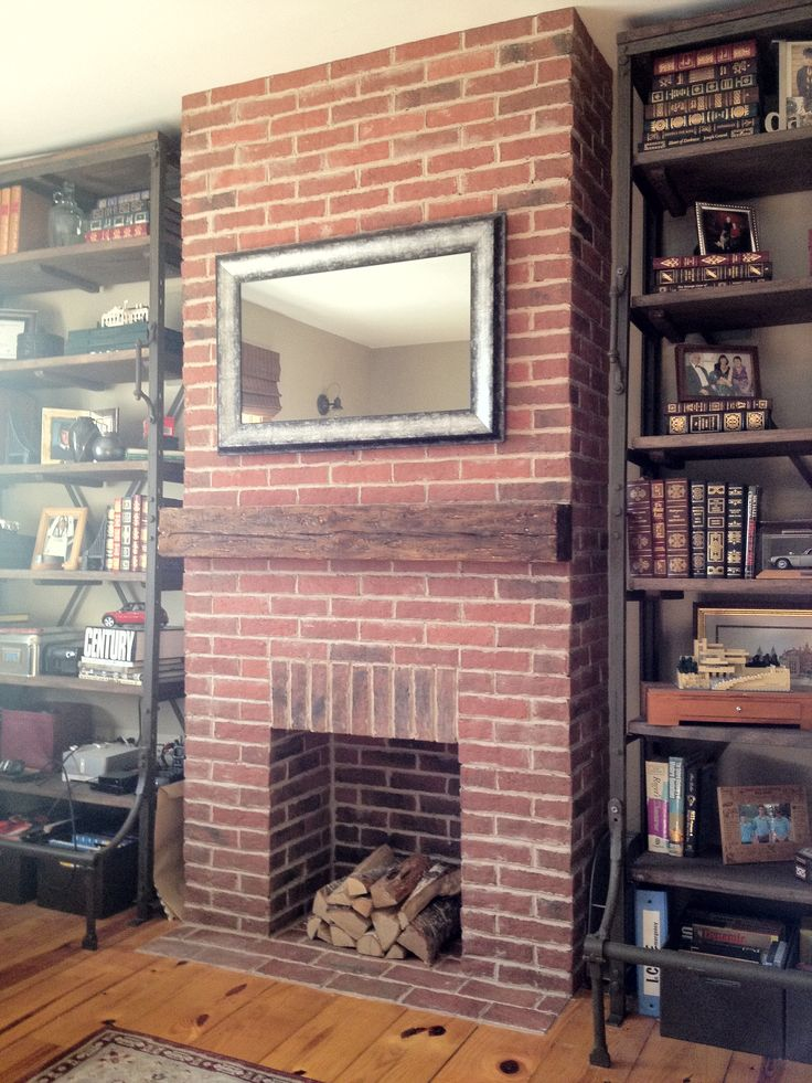 I'd like to use slim bricks (see other pins on board) to tile the chimney breast so that it looks like exposed brick but isn't! Maybe it would be easier to just expose the brickwork that lies beneath our paper though?!