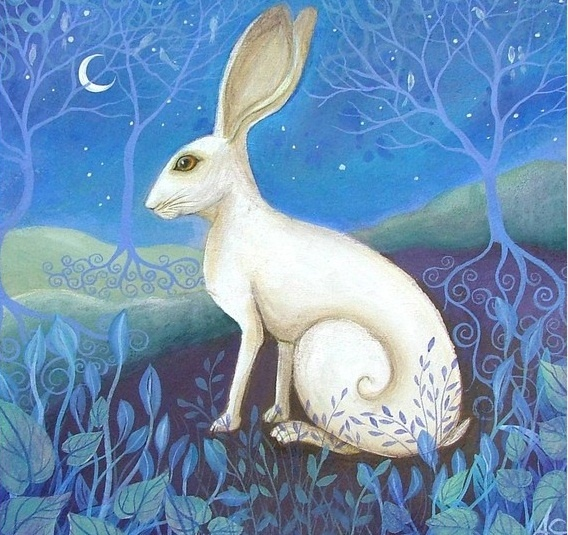 Michabo, of the Algonquin culture, was a trickster also known as The Great Hare. He was said to be a shape-shifter and the creator of men, the earth, deer, water, and fish.