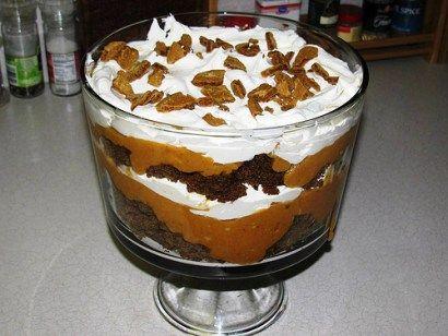 Paula Deen's Pumpkin Gingerbread Trifle