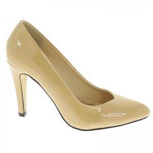 Womens Sam & Billie Sweet Heart Court Shoe Sweet Heart Vamp Almond Toe Court Shoe