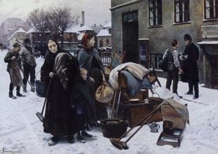 Titel: Sat ud Malet af Erik  Henningsen i 1892