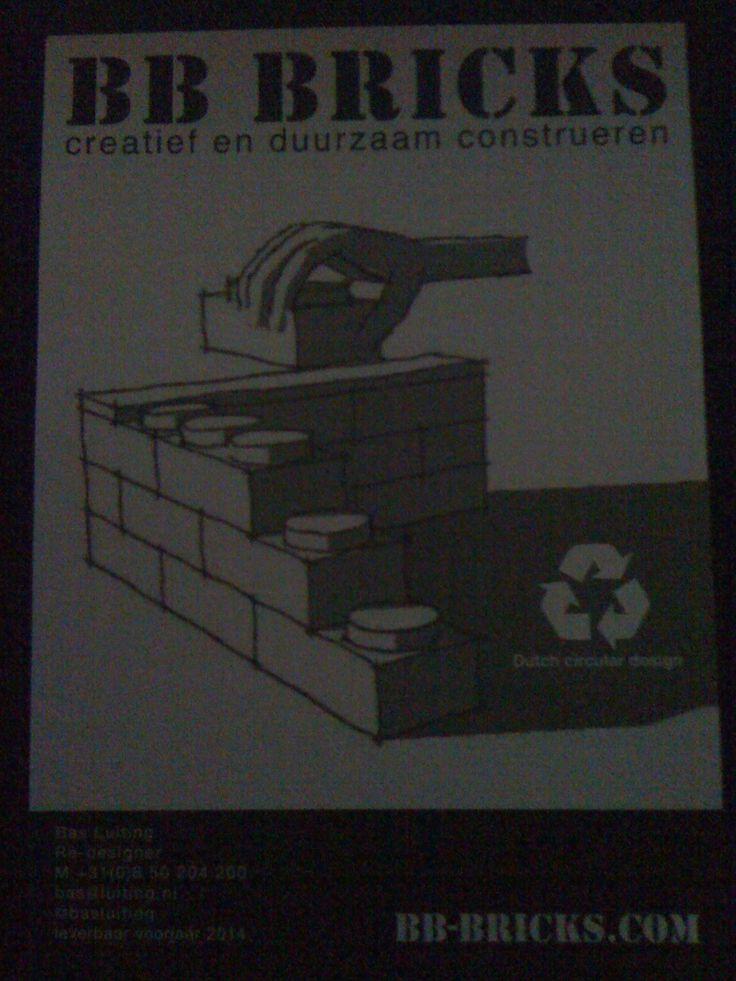 Vanaf voorjaar 2014 meer op de website http://www.bb-bricks.com/ kan niet wachten! Mijn eigen flexibele muurtjes bouwen in huis...