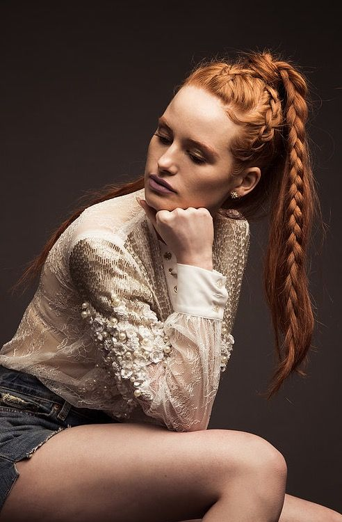 nice color of hair and braids