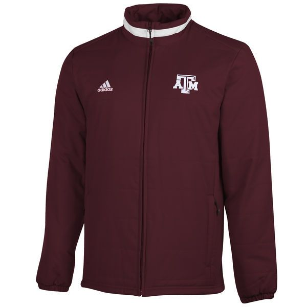 Texas A&M Aggies adidas Football Sideline Transition Midweight Jacket - Maroon - $49.99