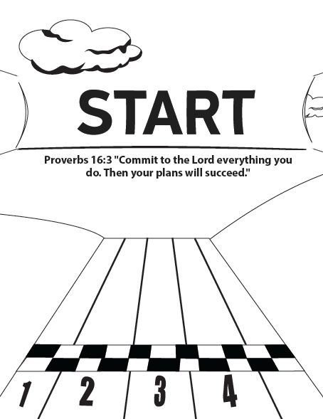 Starting Line Coloring Page Summer