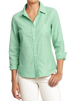 Green oxford from Old Navy $17.50 (size xxl)