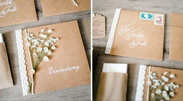 Vintage Einladungskarten für Deine Hochzeit zum selber Basteln