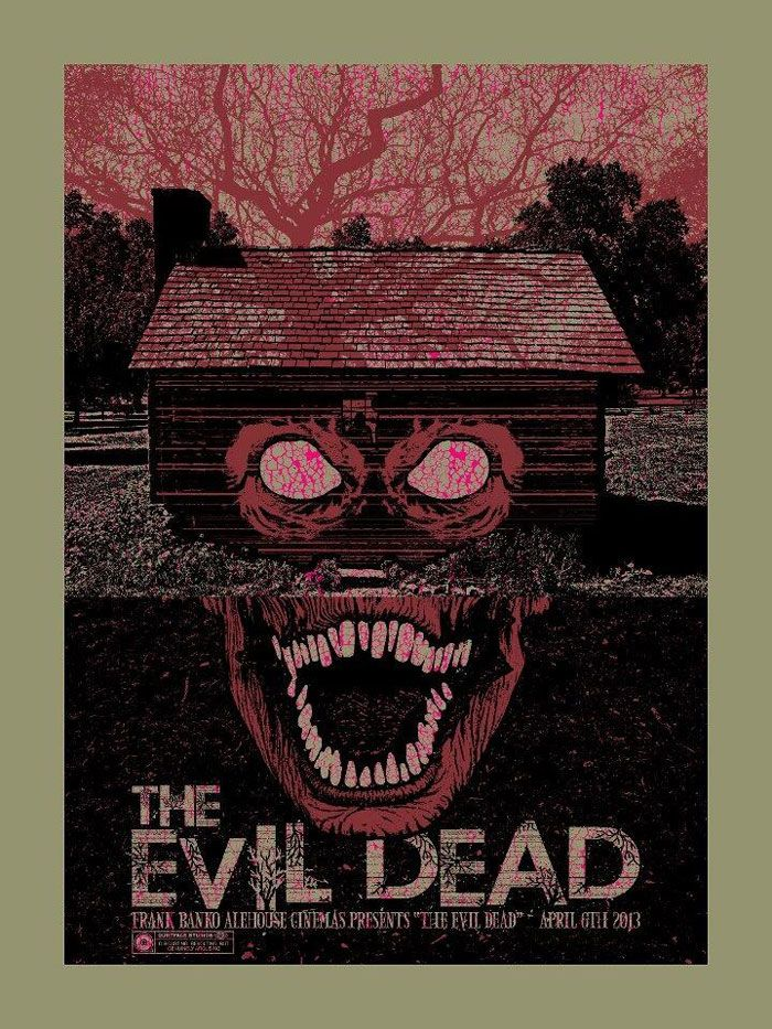 Alternative movie poster for Evil Dead by Chris Garofalo