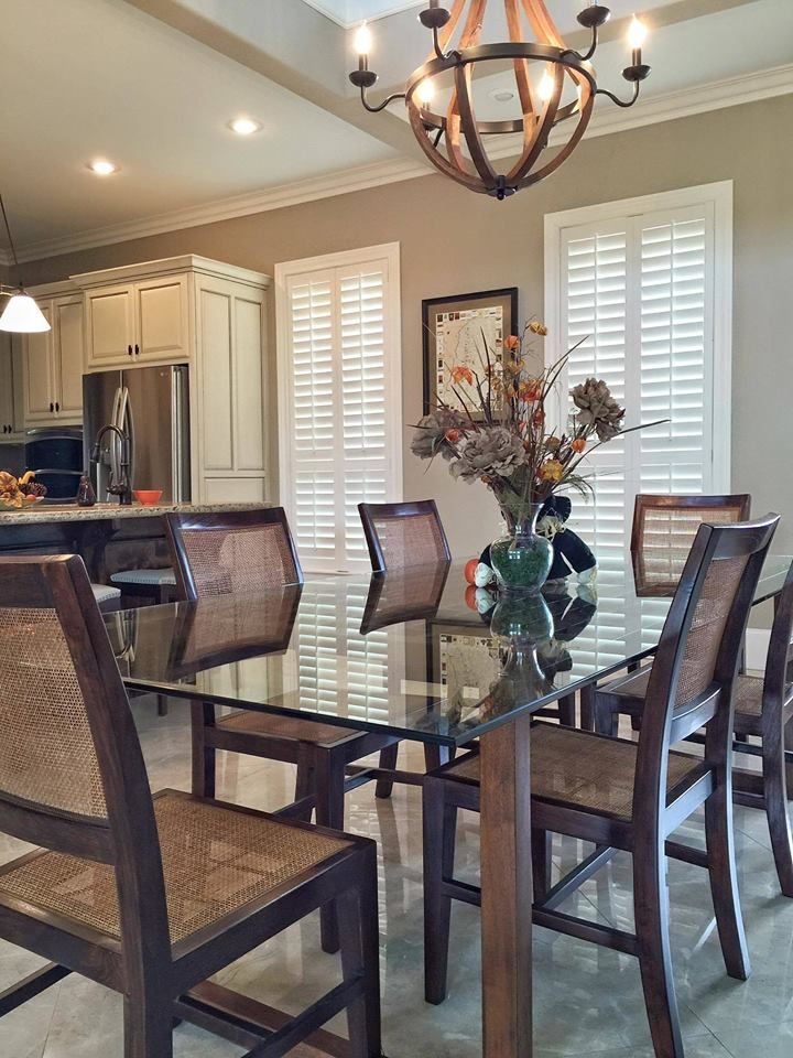 Our Plantation Shutters Look Great In The Dining Area Of This Beautiful Kitchen All