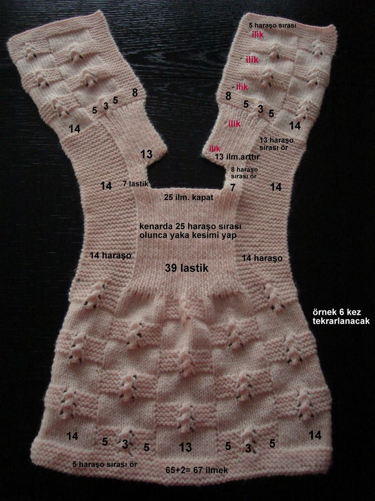 Cute baby girl vest or cardigan - Turkish site - not a translation, but guidelines.