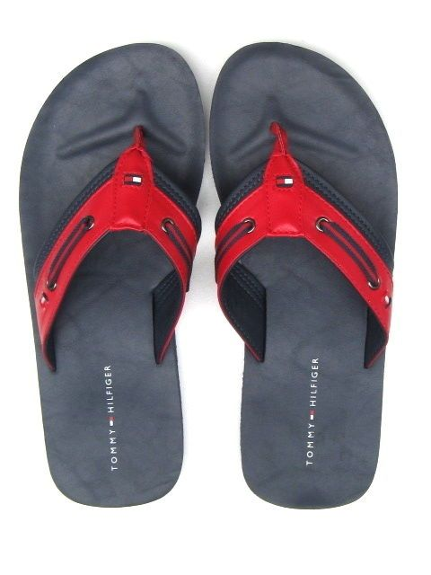 tommy hilfiger mens flip flops sandals denver dark blue. Black Bedroom Furniture Sets. Home Design Ideas