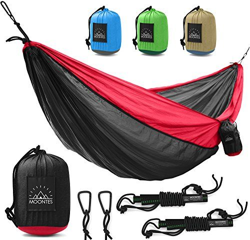 Camping Hammock Double Parachute Portable Travel Large Tree Camp Hammock with Hammock Straps for Backpacking Best Quality Lightweight Two Person Hammock Camping Men Women Black. For product & price info go to:  https://all4hiking.com/products/camping-hammock-double-parachute-portable-travel-large-tree-camp-hammock-with-hammock-straps-for-backpacking-best-quality-lightweight-two-person-hammock-camping-men-women-black/