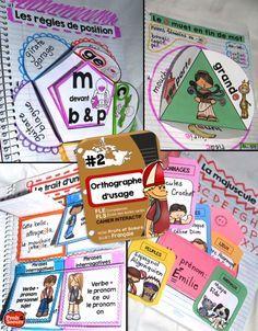Cahier interactif pour l'orthographe d'usage. Ressource TRÈS complète avec des photos, des exemples, des liens vers des ressources enrichissantes et un cahier de l'élève avec plus de 60 activités.