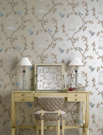 Birdcage Walk Wallpaper from Nina Campbell - NCW3770-01