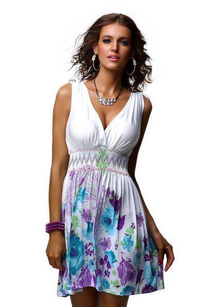 Krátké letní šaty – bílé http://www.amodio.cz/produkt/kratke-letni-saty-bile/