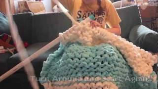 Gigantic Knit Fleece Blanket Instructional