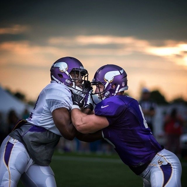 That Minnesota sunset and football. Can't beat it.