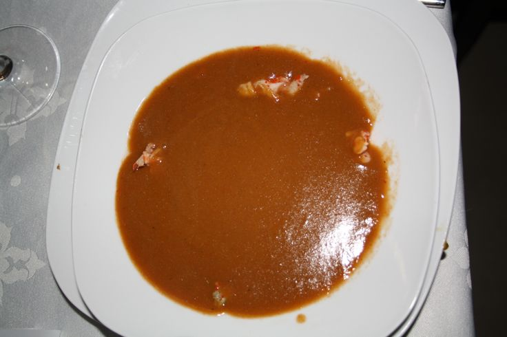 Lobster soup, delicious