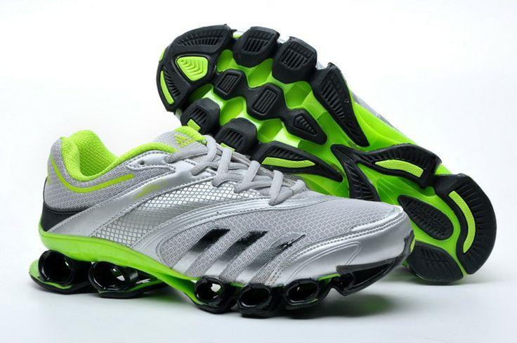 adidas titan bounce mens white black green running shoes