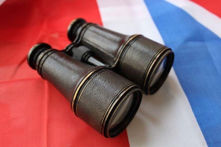 WW1 Era French Made Military Style Antique Binoculars / Field Glasses | eBay