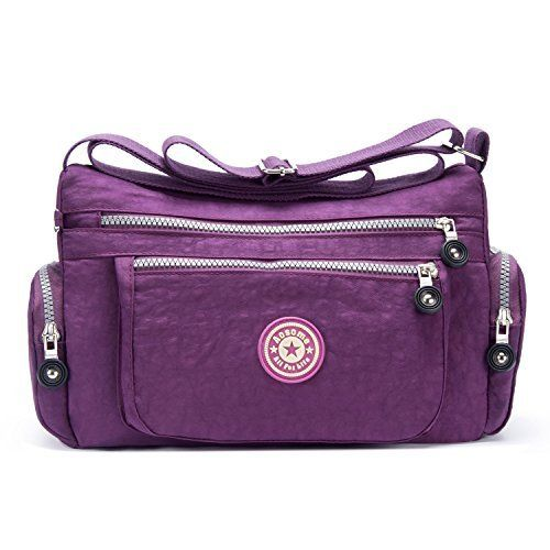 New Trending Shoulder Bags: Womens Casual Tote Handbag Water Resistant Nylon Crossbody Bags Shoulder Bags Tote Purse Lady Messenger Bag (Purple). Women's Casual Tote Handbag Water Resistant Nylon Crossbody Bags Shoulder Bags Tote Purse Lady Messenger Bag (Purple)  Special Offer: $9.98  433 Reviews Features: Item type: Crossbody bag  Shoulder bag Gender: Women and girls Color: Purple Material: Nylon Lining Material:...