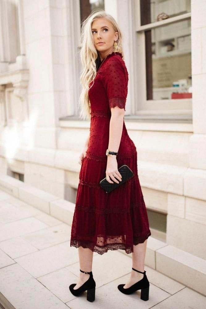 Earcuffjewelry Wedding Guest Outfit Fall October In 2020 Dresses Wine Colored Midi Dress Dresses Formal Elegant,1920 Style Wedding Dress