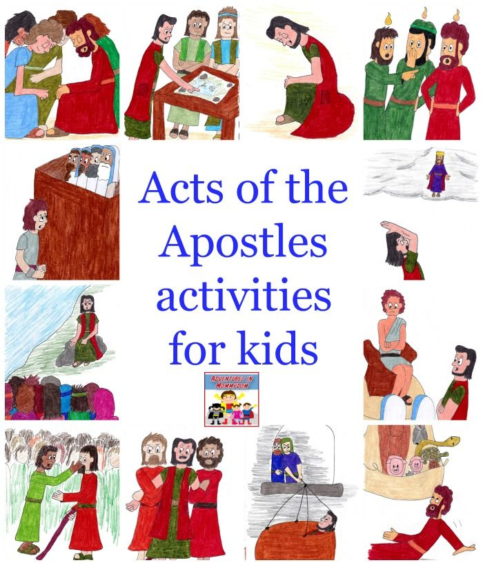 Acts of the Apostles activities for kids