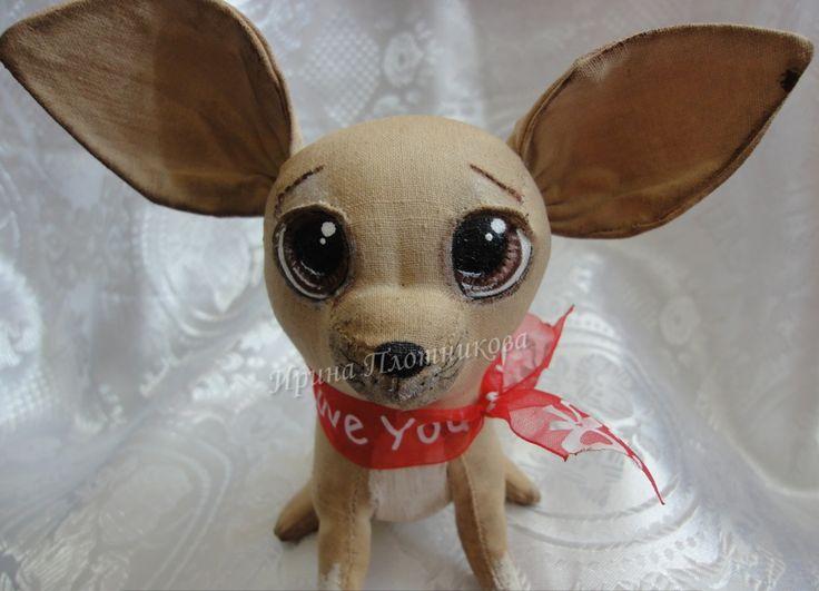 Кофейный щенок Чихуахуа - ручная работа vk.com/club86184763